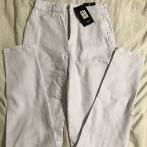 NWT Fashion Nova white high waist skinny jeans